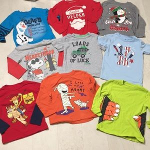 Lot 9 Boys 3T Holiday Shirts Christmas Halloween